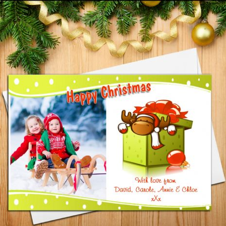 10 Personalised Family Christmas Xmas PHOTO Post Cards N23